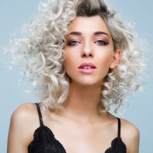 Blonde curl